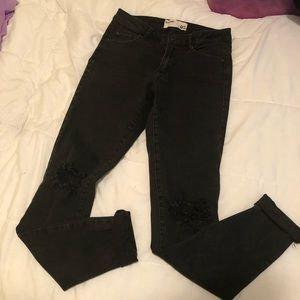 3/$25 Garage Black Ripped Jeans